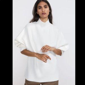 Zara NWT oversized high neck sweater